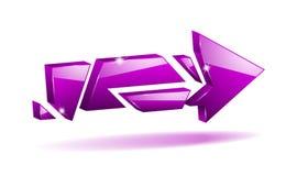 Vector 3D broken arrow Stock Photo