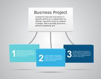 Vector 3D business infographic. Royalty Free Stock Photography