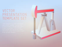 Vector 3d business theme presentation template. Set Royalty Free Stock Images