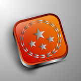 The vector 3d button. Royalty Free Stock Photography