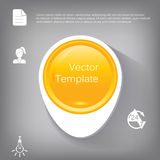 Vector 3d circle plastic glossy element for infographic.  Royalty Free Stock Images