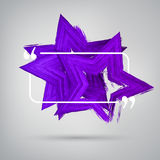 Vector 3d colorful star design Stock Photos