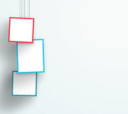 Vector 3d Colourful 3 Abstract Hanging Frames Stock Photo