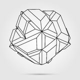 Vector 3D concept illustration. 3D concept illustration. Vector Abstract geometric shape Stock Photos