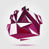 Vector 3D concept illustration. 3D concept illustration. Vector Abstract geometric template Stock Photo