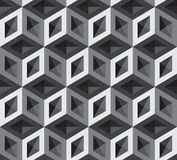 Vector 3d cubes pattern Stock Images
