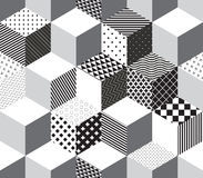 Vector 3d cubes pattern Royalty Free Stock Photography