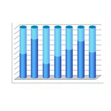 Vector 3d cylinder chart diagram blue graph. Vector illustration Stock Photos