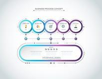 Vector 3d de cirkeletiket van Infographic, malplaatjeontwerp Bedrijfsconcept, Infograph met 6 aantallenopties, Royalty-vrije Stock Afbeelding