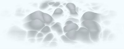 Vector 3d echo audio wavefrom spectrum. Music waves oscillation graph futuristic visualization. Grayscale faded impulse. Pattern. Or Abstract relief map stock illustration