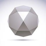 Vector 3D el objeto abstracto, plantilla del elemento del diseño para el technolog Fotos de archivo libres de regalías