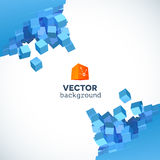 Vector 3D explosion background with cubical Stock Photography