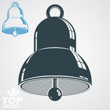 Vector 3d festive bell, additional version included. Eps 8 high Royalty Free Stock Photos