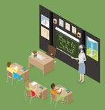 Vector 3d Flat Isometric With Education Concept Stock Photo