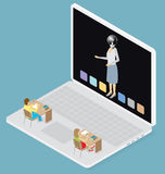 Vector 3d Flat Isometric With Education Concept Stock Images