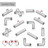 Vector 3d flat isometric illustration collection of detailed Construction Pieces Stock Photo