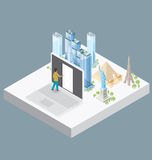 Vector 3d Flat Isometric With Internet Concept Royalty Free Stock Images