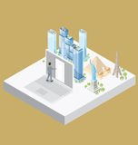 Vector 3d Flat Isometric With Internet Concept Royalty Free Stock Photos