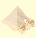 Vector 3d Flat Isometric Monument Royalty Free Stock Photography