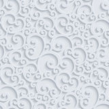 Vector 3d Floral Damask Seamless Pattern royalty free stock photography