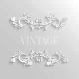 Vector 3d Floral Invitation Card Stock Images