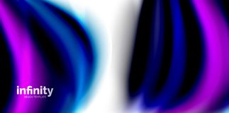 Vector 3d fluid colors wave background. Flowing abstract shape Stock Photography