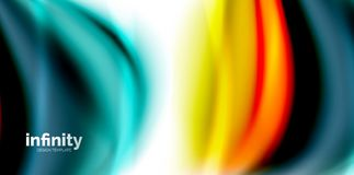 Vector 3d fluid colors wave background. Flowing abstract shape Stock Photo