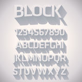 Vector 3D Font with shadow. On white background royalty free illustration