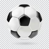 Vector 3d football  ball on transparent background. Stock Photos