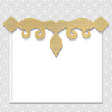 Vector 3D frame, festive pattern embossing,  gold insert Stock Images