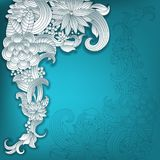 Vector 3d frame ornament, with space for floral elements. Stock Photography