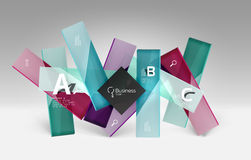 Vector 3d geometric abstract background template. Glossy glass plates Royalty Free Stock Photography