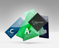 Vector 3d geometric abstract background template Royalty Free Stock Images