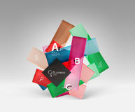 Vector 3d geometric abstract background template Royalty Free Stock Image