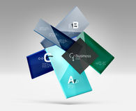 Vector 3d geometric abstract background template Stock Photos