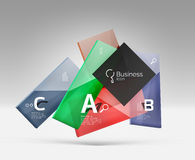 Vector 3d geometric abstract background template Royalty Free Stock Photo