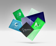 Vector 3d geometric abstract background template Royalty Free Stock Photos