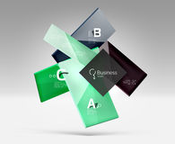 Vector 3d geometric abstract background template Stock Image