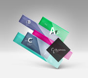Vector 3d geometric abstract background template Royalty Free Stock Photography