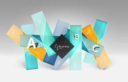 Vector 3d geometric abstract background template. Glossy glass plates Stock Photography