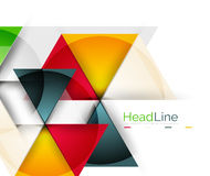 Vector 3d geometric abstract background. Triangle template Royalty Free Stock Image