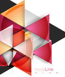 Vector 3d geometric abstract background. Triangle template Stock Photos