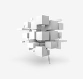 Vector 3D geometric cubes. 3D vector backgroud of geometric cubes Royalty Free Stock Images