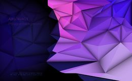 Vector 3D Geometric, Polygon, Line, Triangle pattern shape for wallpaper or background. Illustration low poly, polygonal design with dark blue color. Abstract vector illustration