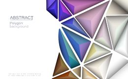 Vector 3D Geometric, Polygon, Line, Triangle pattern shape for web. Vector 3D Geometric, Polygon, Line, Triangle pattern shape for wallpaper or background royalty free illustration