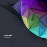 Vector 3D Geometric, Polygonal, Triangle pattern. Vector illustration Abstract 3D Geometric, Polygonal, Triangle pattern shape and multicolored,blue, purple Royalty Free Stock Photo