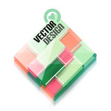 Vector 3d glass shape for business template Royalty Free Stock Image