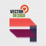 Vector 3d glass shape for business template Stock Photography