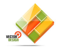 Vector 3d glass shape for business template Royalty Free Stock Photo