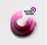 Vector 3d glossy arrow circle hi-tech concept Royalty Free Stock Images